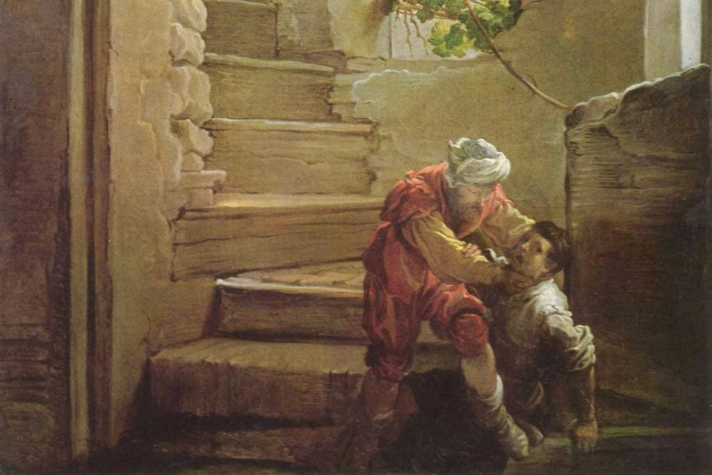 Painting of the Unforgiving Servant by Domenico Fetti
