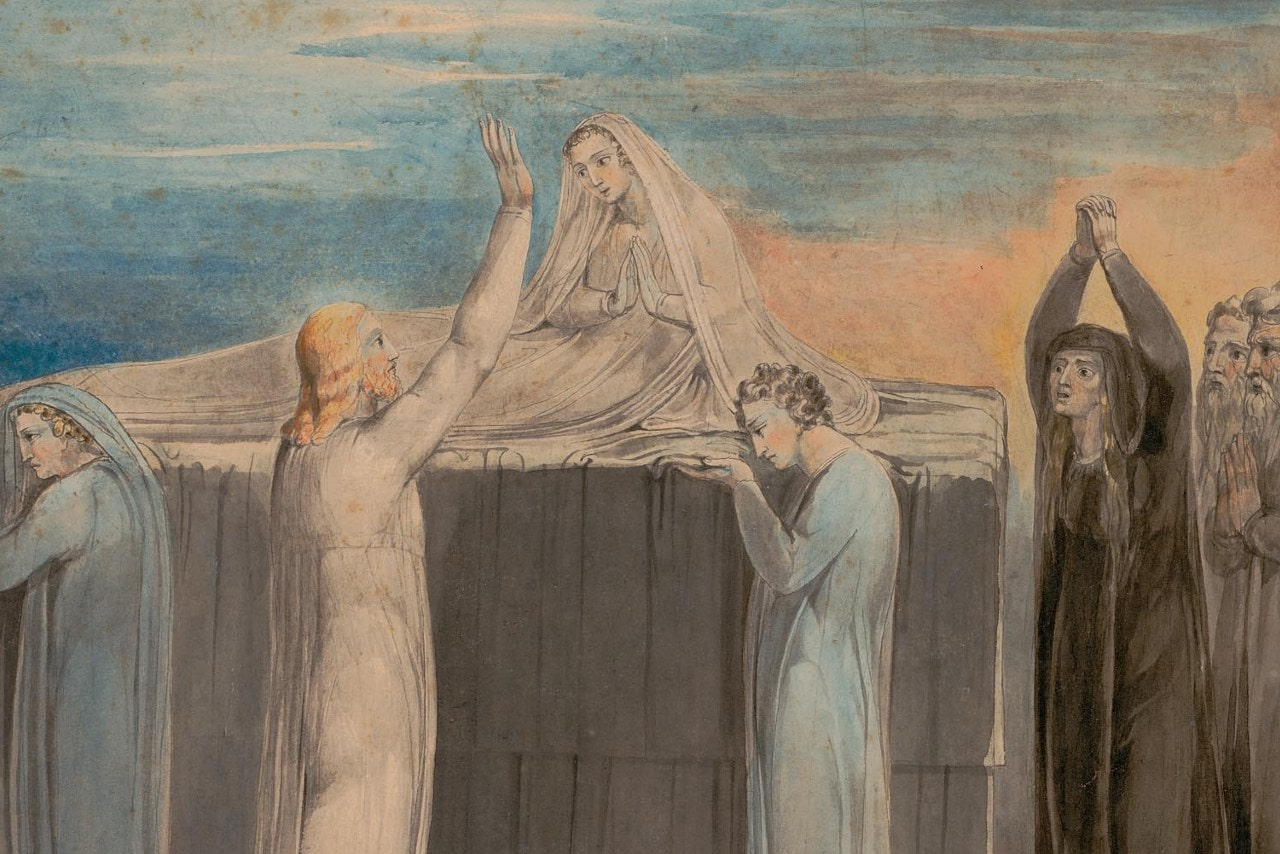 Painting of the Widow's Son by Blake